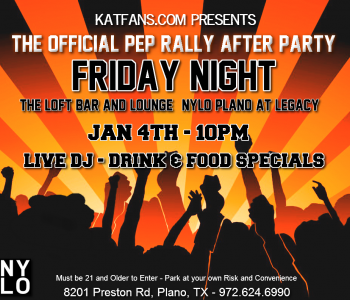 KatFans.com Presents: The Official Pep Rally After Party